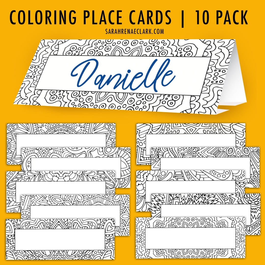 Printable Place cards 10 pack