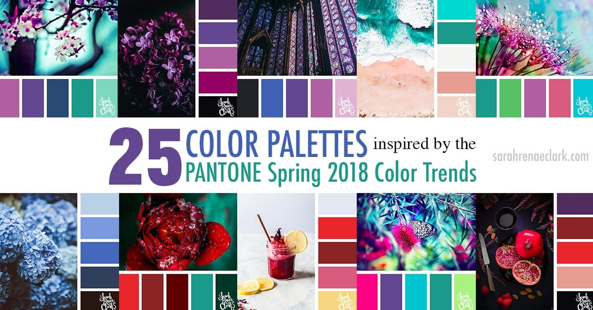 25 color palettes inspired by the pantone spring 2018 color trends
