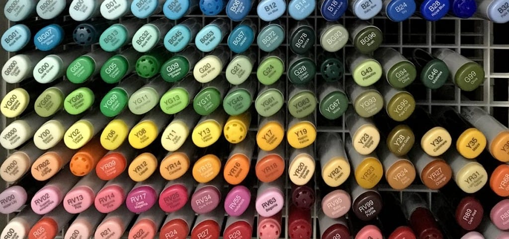 Copic sketch marker collection