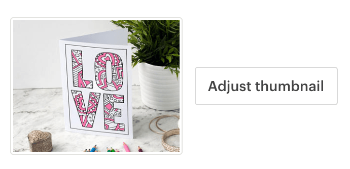 adjust your Thumbnail - Etsy listing photos