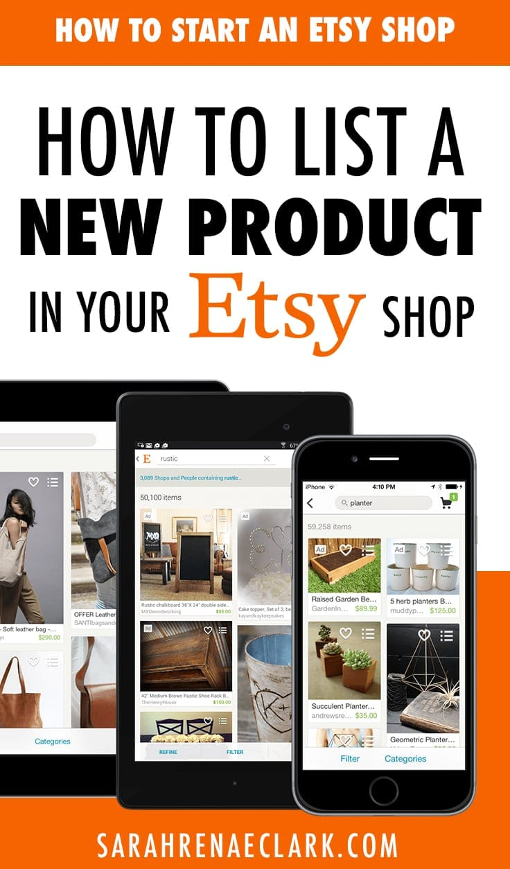 How to list a new product in your Etsy shop