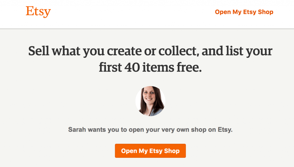 Open an Etsy shop and get 40 free listings