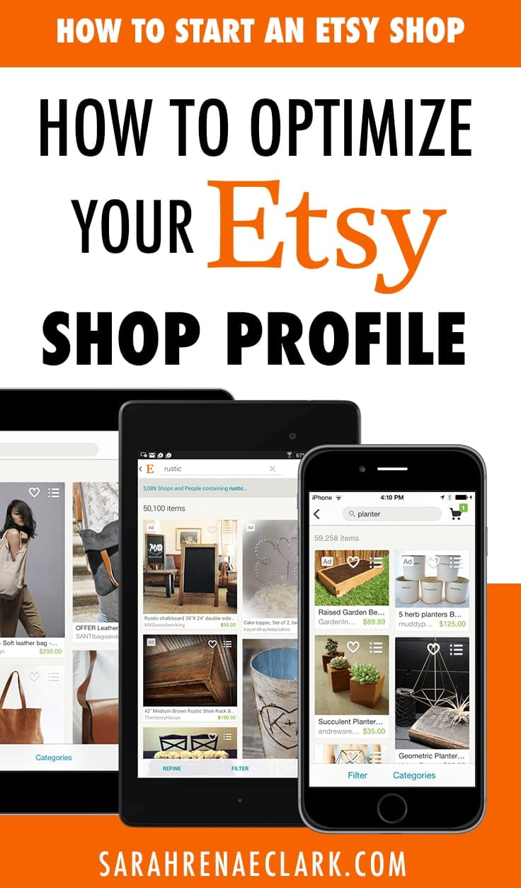 How to optimize your Etsy shop profile