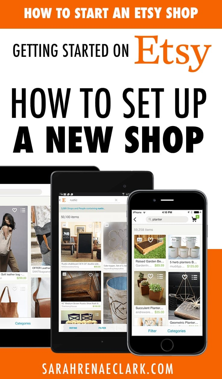 Getting started on Etsy: How to set up an Etsy shop