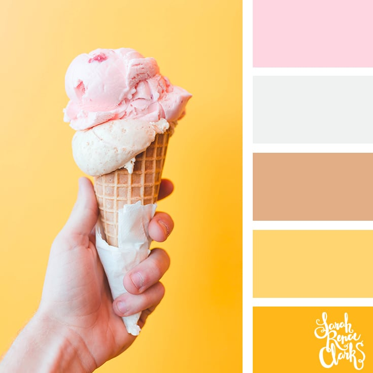 Icecream color palette