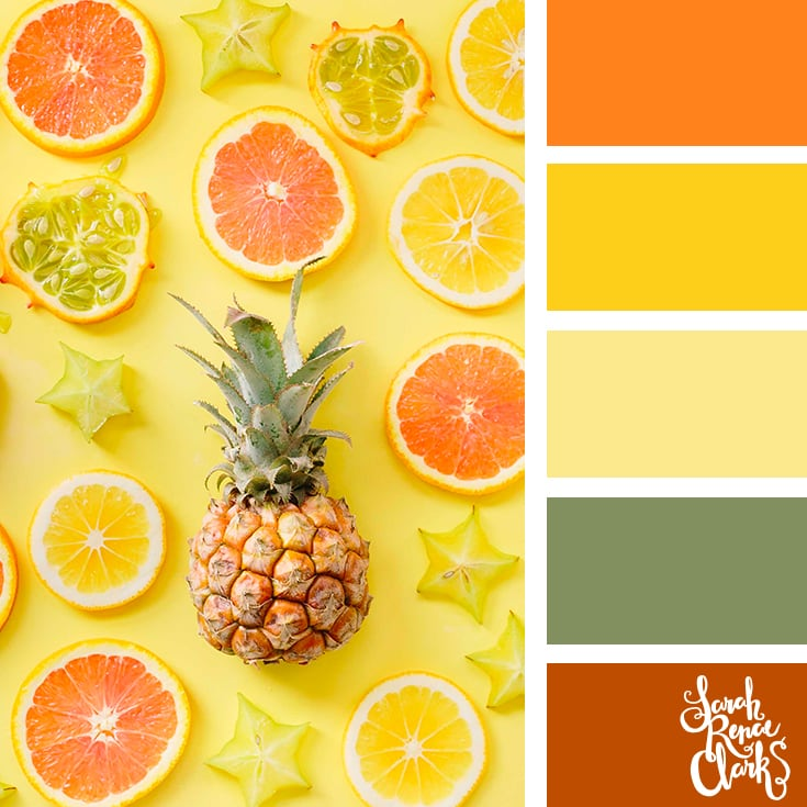 Pineapples + Citrus Color scheme