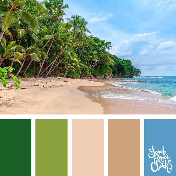 Island summer color palette