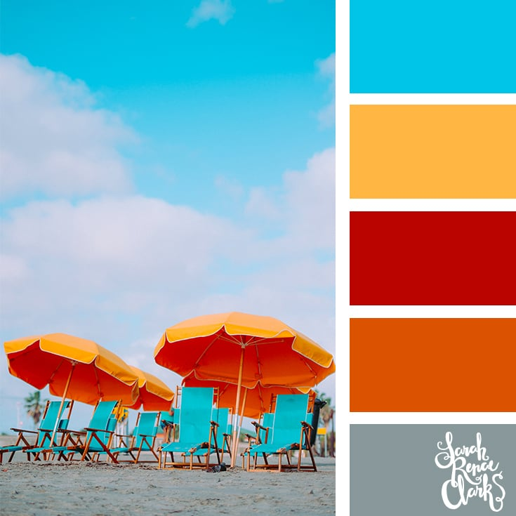Bright beach colors