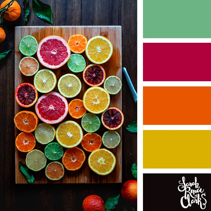 Bright citrus color scheme