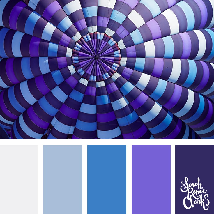 purple blues color combo