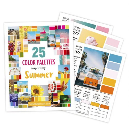 25 Color Palettes Inspired by Summer | Printable PDF color guide