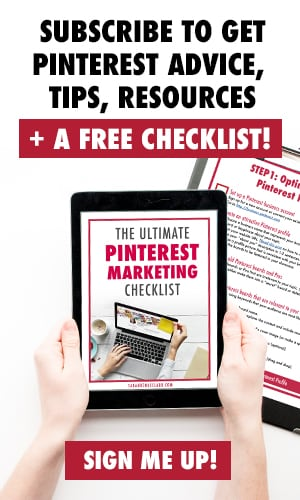 Subscribe to get Pinterest advice,tips, resources + a free checklist