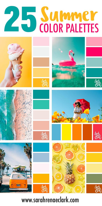 25 Summer Color Palettes