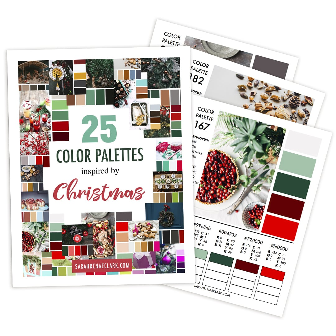25 Color Palettes Inspired by Christmas | Printable PDF color guide