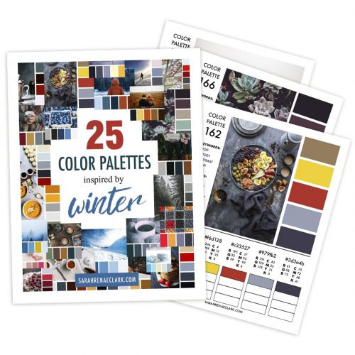 25 Color Palettes Inspired by Winter | Printable PDF color guide