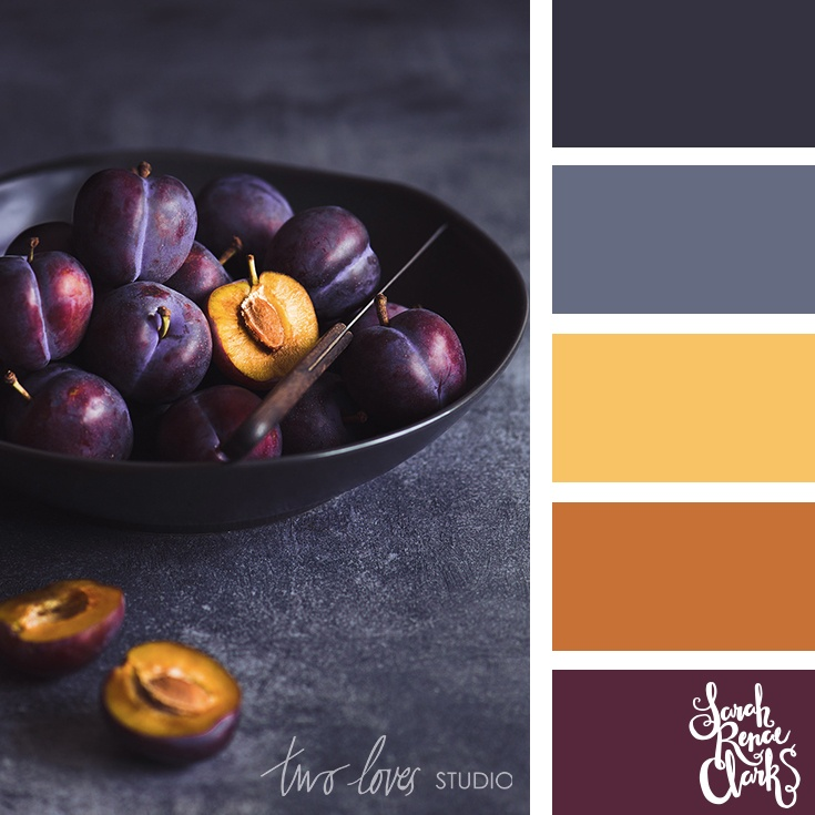 Mustard and gray color palette