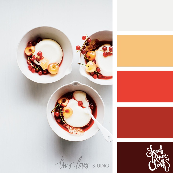 Ice-cream red color palette