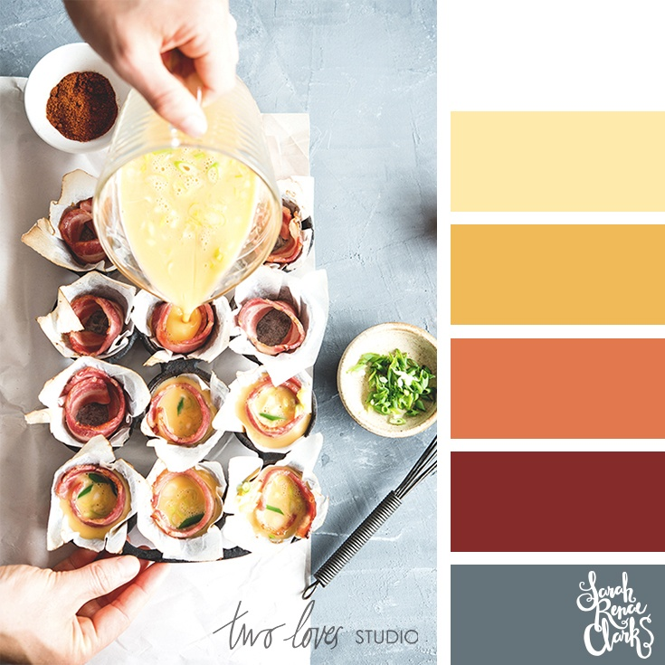 Warm color combo inspired by food