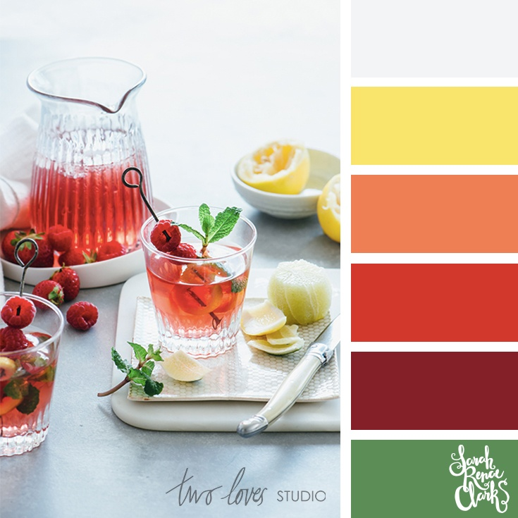 Summer citrus color palette