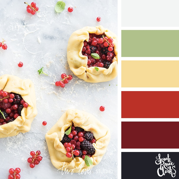 Berries + pastry color inspo