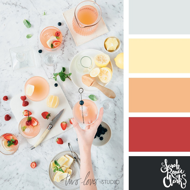 Summer drinks color palettes