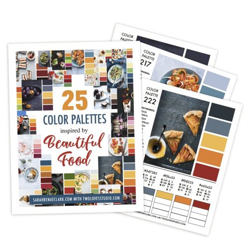 25 Color Palettes Inspired by Beautiful Food | Printable Color Guide