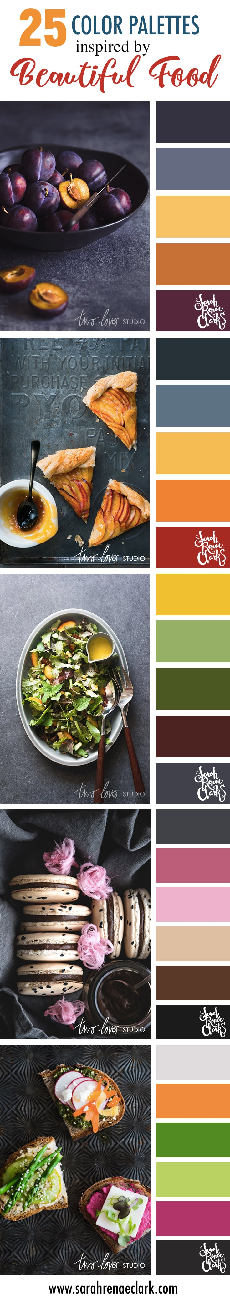25 Color Palettes Inspired by Beautiful Food