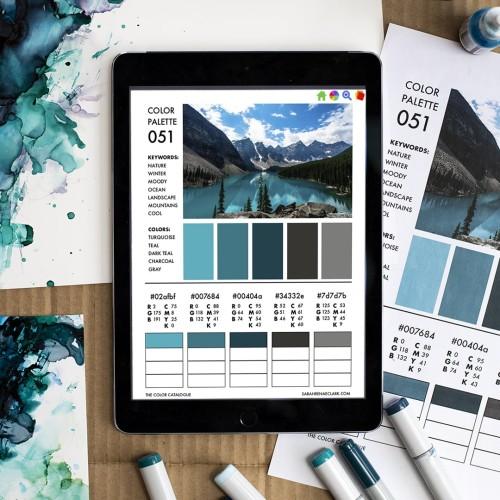 The Color Catalog - blue color palette
