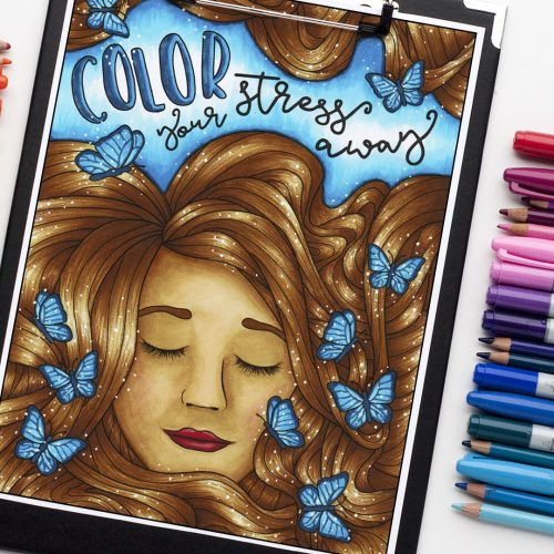 "Color your stress away - from ""Confessions of a Coloring Addict"""