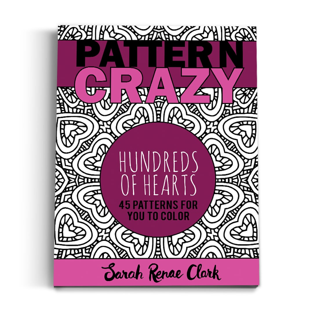 Pattern Crazy Hundreds of Hearts - Printable Adult Coloring Book