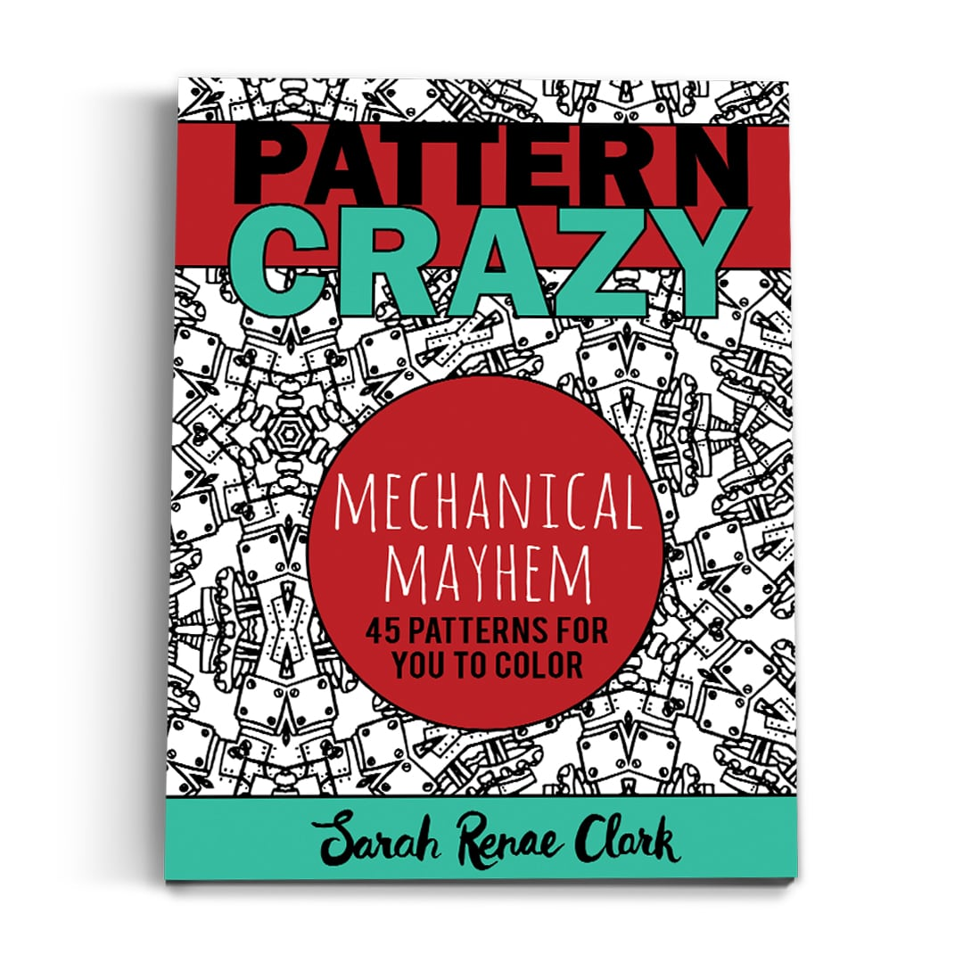 Pattern Crazy Mechanical Mayhem - Printable Adult Coloring Book