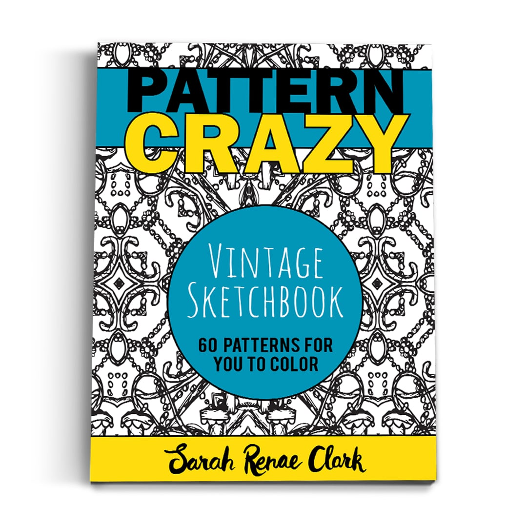 Pattern Crazy Vintage Sketchbook - Printable Adult Coloring Book