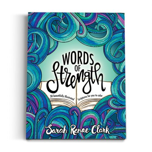Words of Strength - Printable Adult Coloring Book