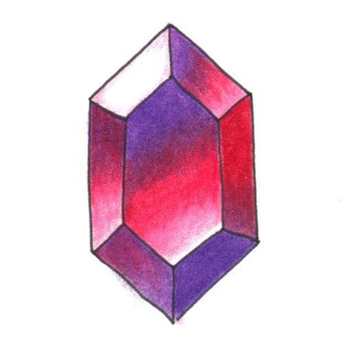 Gemstone pencil tutorial step 6