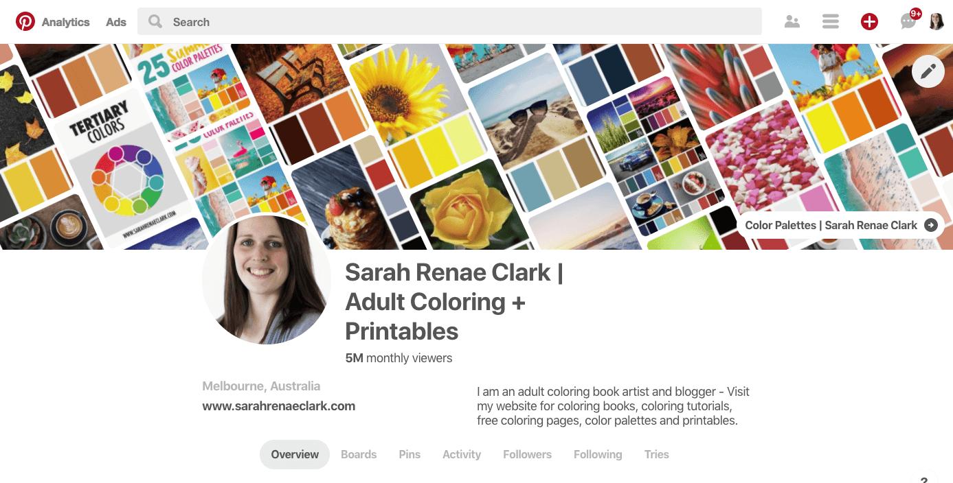 Sarah Renae Clark Pinterest Profile