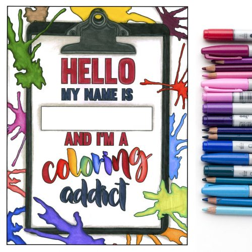 hello my name is - colored by Michelle HH