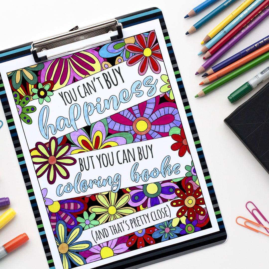 You can't buy happiness, but you can by coloring books (and that's pretty close). Colored by Emma Turnbull