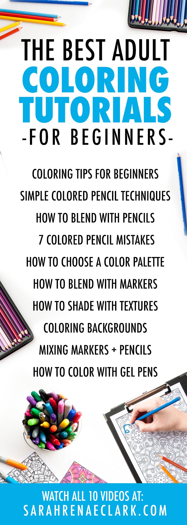 The 10 Best Adult Coloring Tutorials for Beginners - Sarah Renae Clark