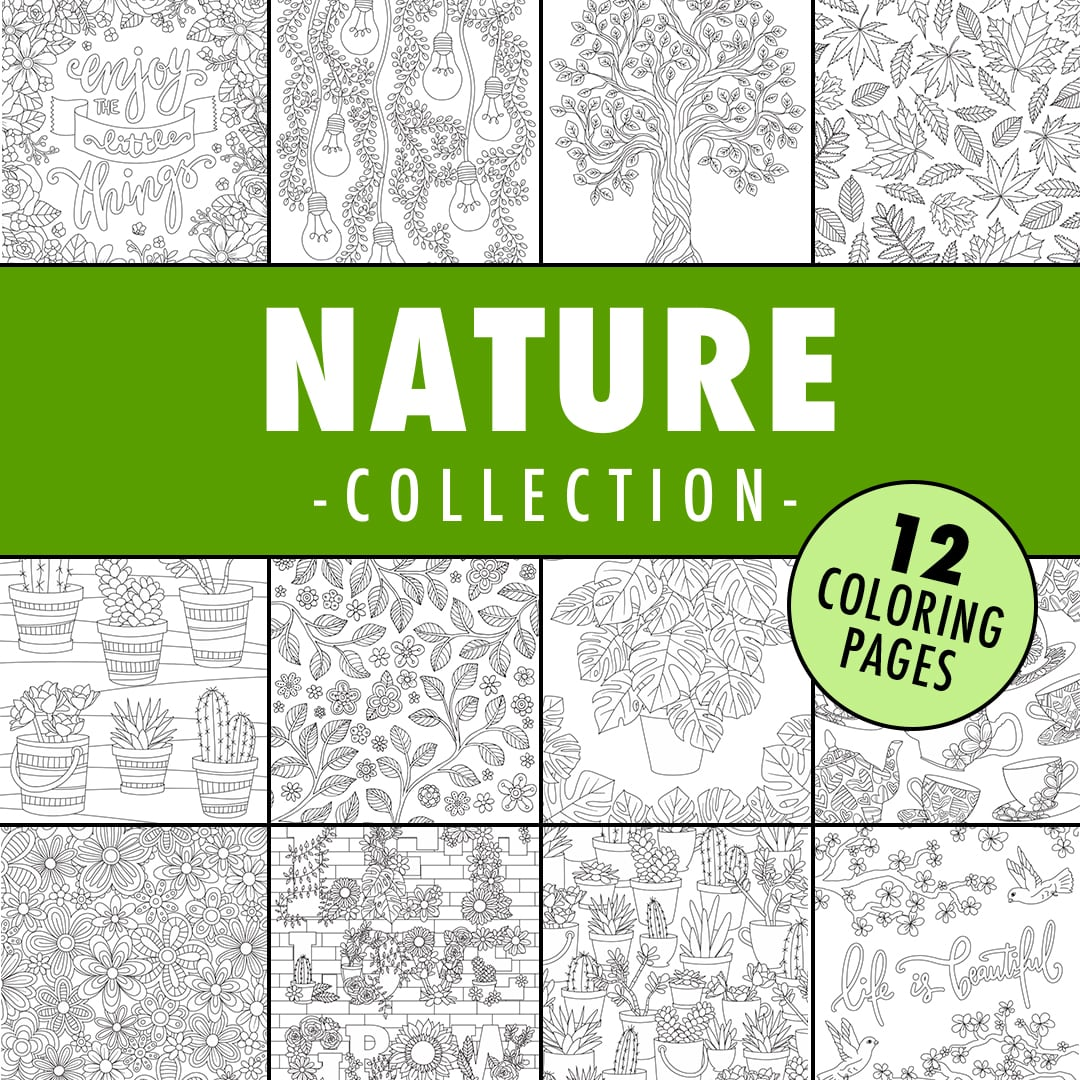nature coloring page collection