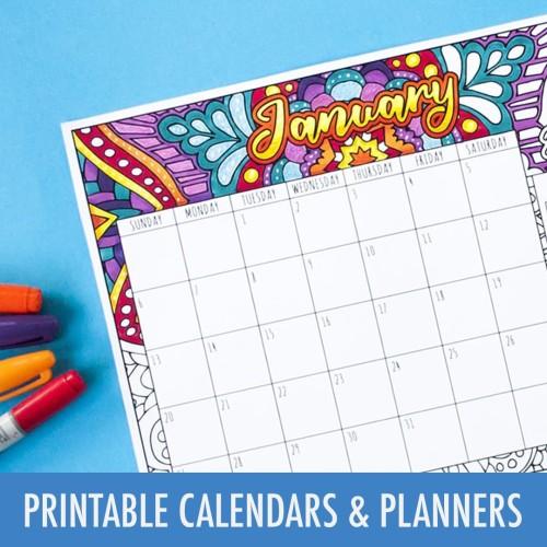Printable Calendars & Planners