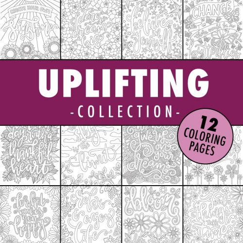 uplifting coloring page collection