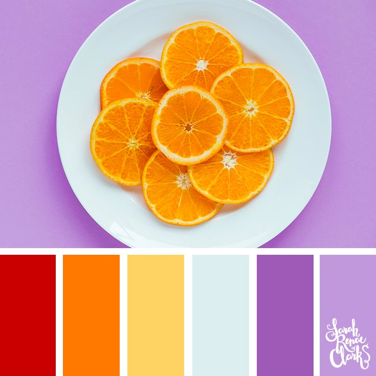 Color Palette - red, orange, yellow, purple