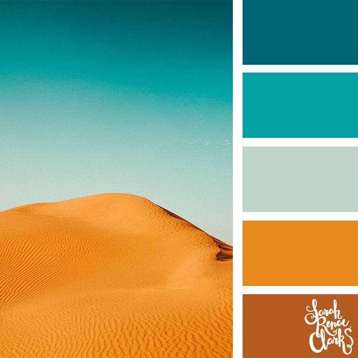 Color Palette - teal, brown