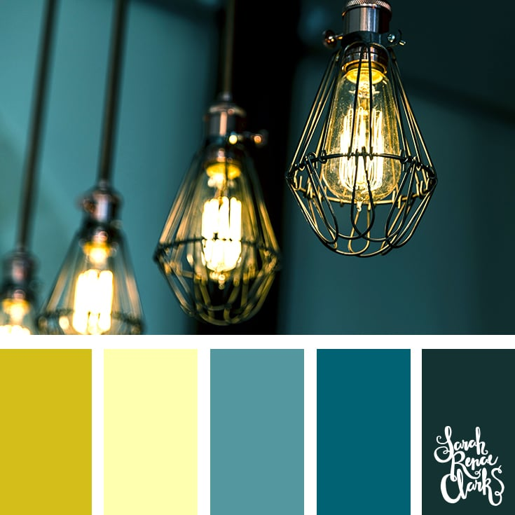 Color Palette - mustard, teal, black