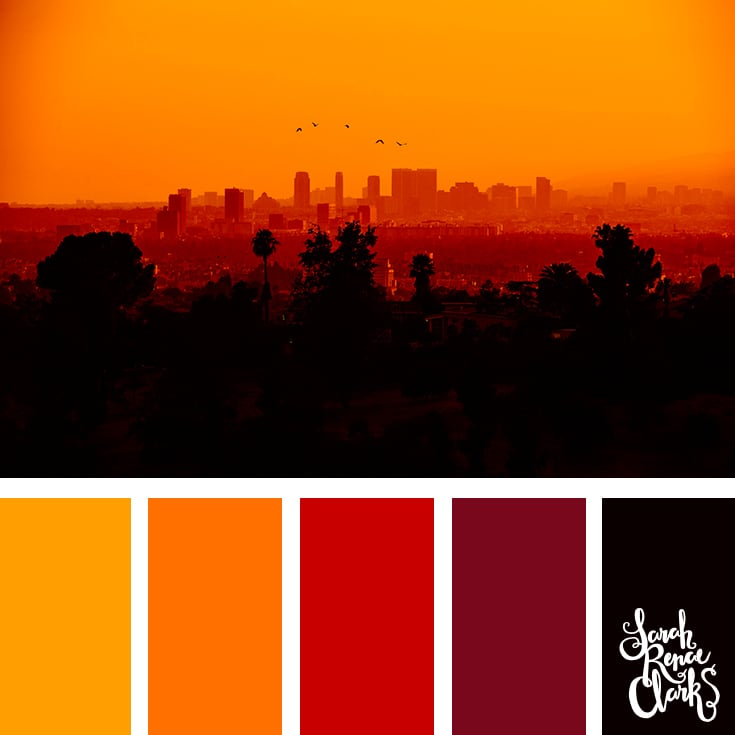 Color Palette - yellow, orange, red, black
