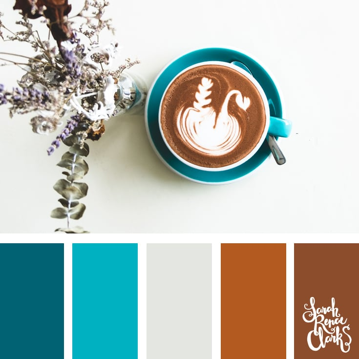Color Palette - Teal, gray, brown