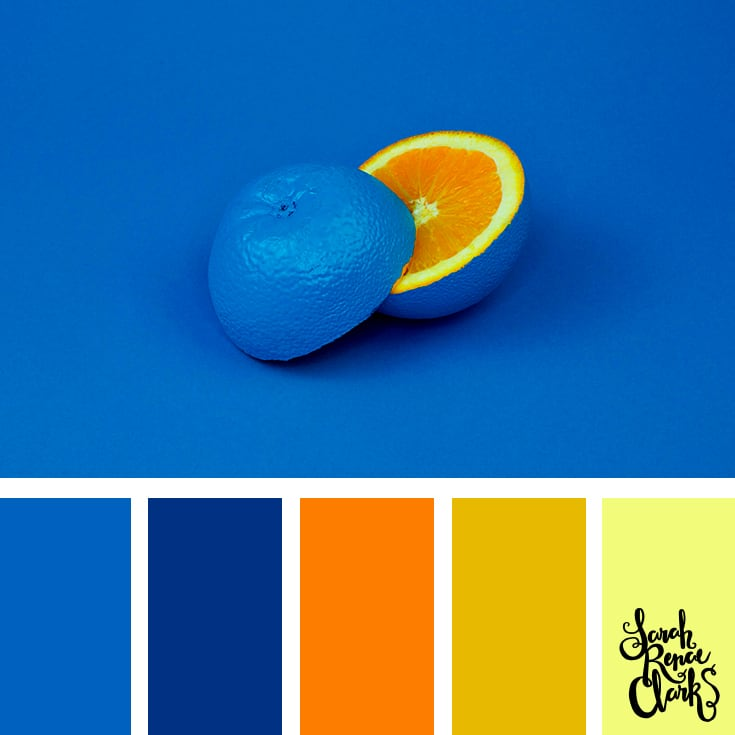 Color Palette - Blue, orange, yellow