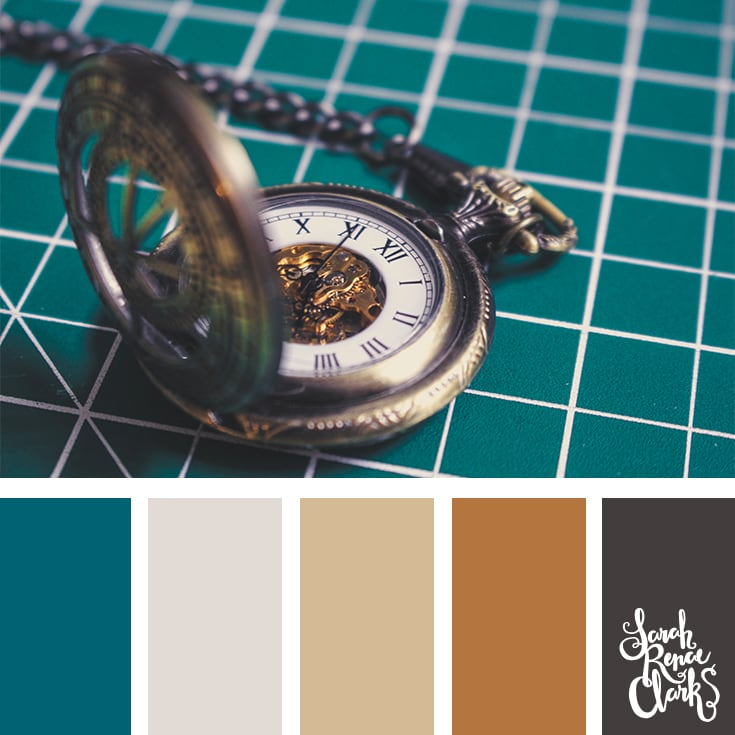 Color Palette - Teal, brown, gray