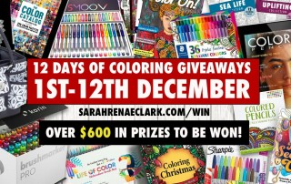 12 Days of Coloring Giveaways 2018