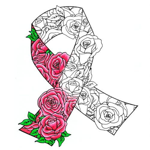 Free cancer awareness ribbon coloring page